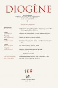 Diogène 2000, n° 189