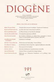 Diogène 2000, n° 192