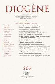 Diogène 2003, n° 203