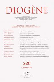 Diogène 2007, n° 220