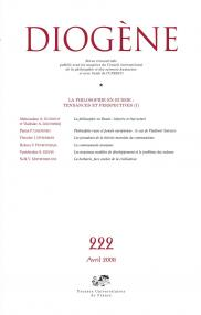 Diogène 2008, n° 222