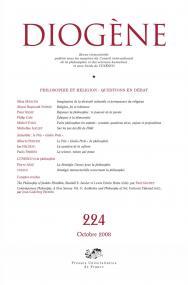 Diogène 2008, n° 224