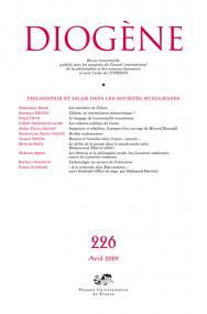 Diogène 2009, n° 226