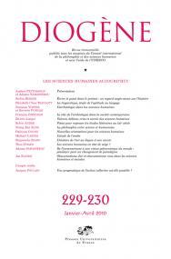 Diogène 2010, n° 229-230
