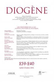 Diogène 2012, n° 239-240