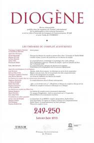 Diogène 2015, n° 249-250