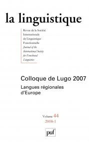 linguistique 2008, vol. 44 (1)