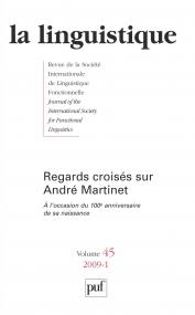 linguistique 2009, vol. 45 (1)