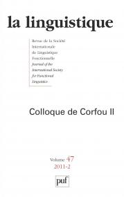 linguistique 2011, vol. 47 (2)