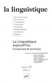 linguistique 2013, vol. 49 (1)