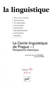 linguistique 2014, vol. 50 (1)