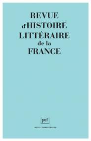 Revue d'histoire littéraire de la France 2006 - n° Bibliographique 2005