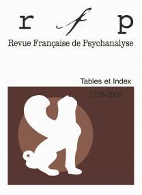 RFP. Tables et index, 1926, 2006