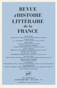 RHLF 2003, n° 1