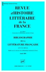 RHLF 2011, Bibliographie 2010