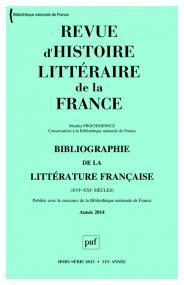 RHLF 2015, Bibliographie 2014