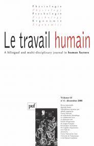 travail humain 2000, vol. 63 (4)