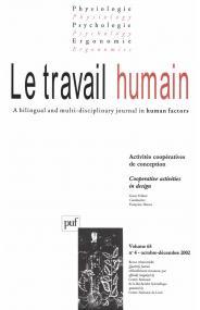 travail humain 2002, vol. 65 (4)