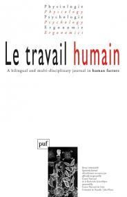 travail humain 2003, vol. 66 (1)
