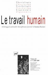 travail humain 2005, vol. 68 (3)