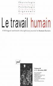 travail humain 2005, vol. 68 (4)