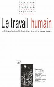 travail humain 2006, vol. 69 (4)