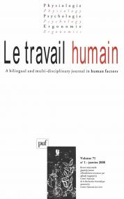 travail humain 2008, vol. 71 (1)