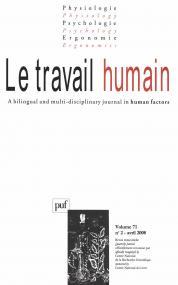 travail humain 2008, vol. 71 (2)