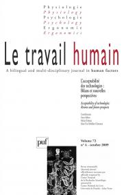 travail humain 2009, vol. 72 (4)