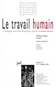 travail humain 2010, vol. 73 (4)