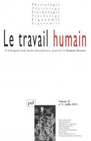 travail humain 2013, vol. 76 (3)