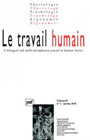 travail humain 2018, vol. 81 (1)