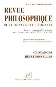 Revue philosophique 2018, t. 143 (3)