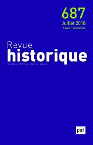 Revue historique 2018, n° 687