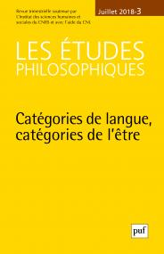 Etudes philosophiques 2018, n° 3
