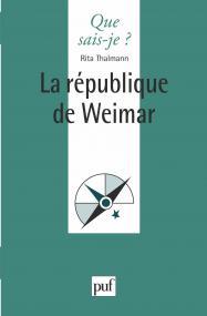 La république de Weimar