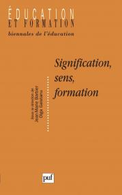 Signification, sens, formation