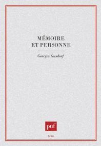 Mémoire et personne