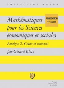 Mathématiques pour les sciences économiques et sociales
