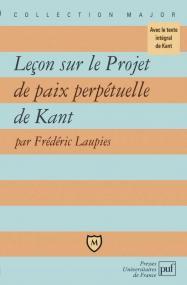 Leçon sur le Projet de paix perpétuelle de Kant