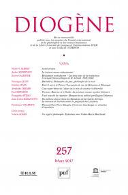 Diogène, n° 257