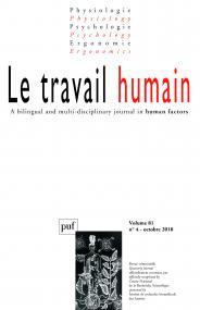 travail humain 2018, vol. 81 (4)