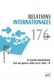 Relations internationales 2018, n° 176
