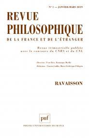 Revue philosophique 2019, t. 144 (1)