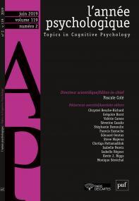L'année psychologique 119-2