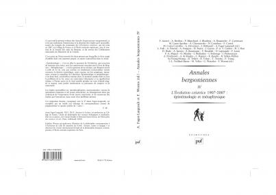 Annales bergsoniennes, IV