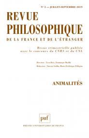 Revue philosophique 2019-3