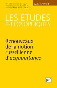 Les études philosophiques 2019-3