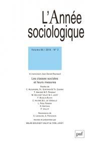 L'année sociologique 2019, vol. 69 (2)