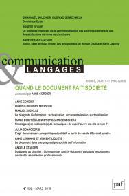 COMMUNICATION ET LANGAGES 2019, N.199